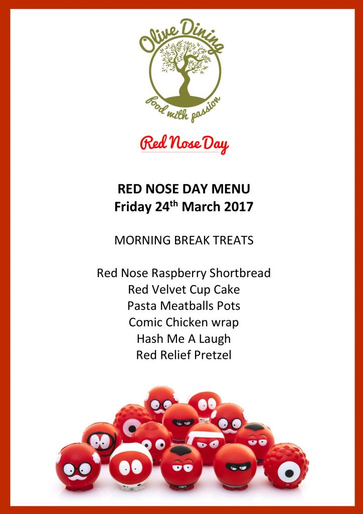 Red Nose Day Menu